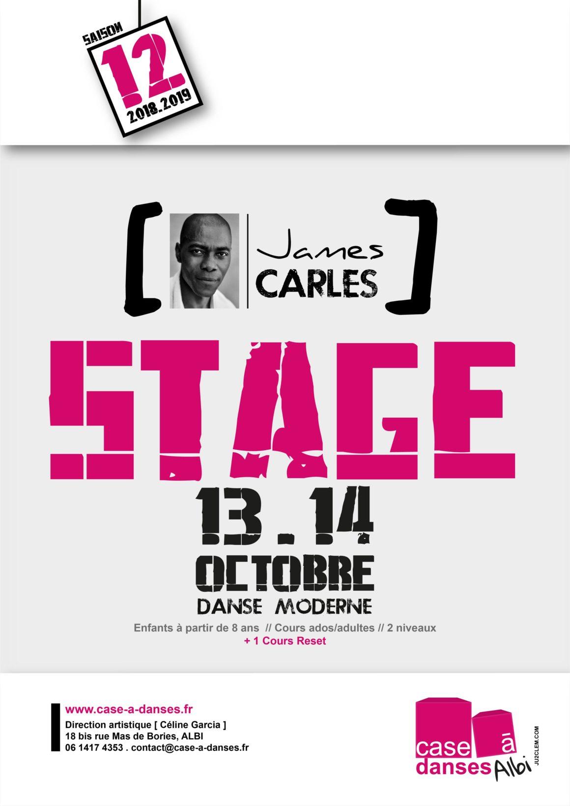 Stage James Carlès – 13/14 Octobre